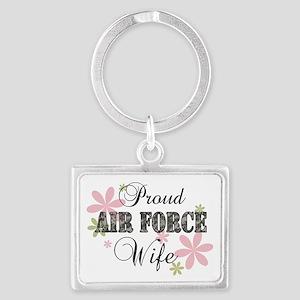 Air Force Wife [fl camo] Landscape Keychain